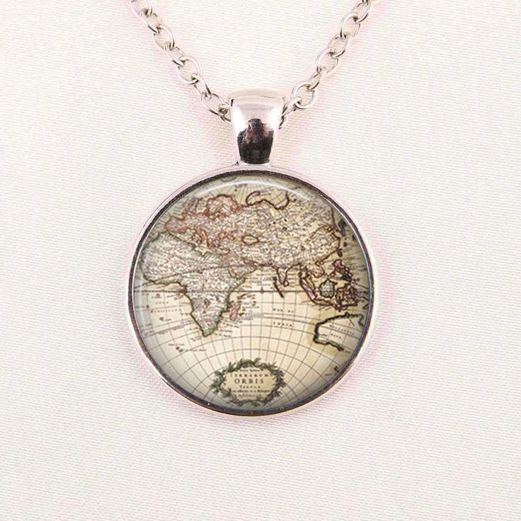 Бесплатная доставка стеклянный купол урожай глобус ожерелье, Старинные мир, Карта мира ювелирных изделий, Подарок на память карту кулон купить на AliExpress