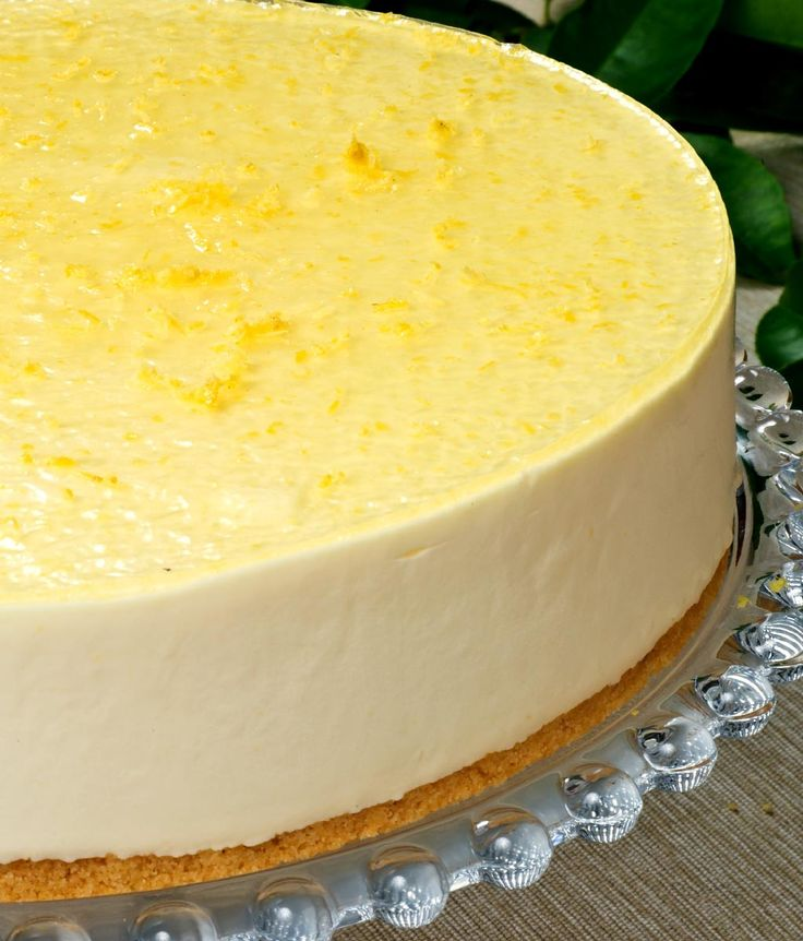 Lemon Curd Cheesecake: 1 x 24cm Smooth, creamy, tangy cheesecake on a buttery shortbread biscuit base, flavoured with lemon curd and decorated with lemon glaze.