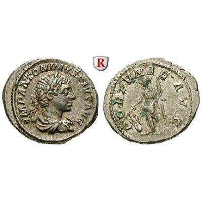 Römische Kaiserzeit, Elagabal, Denar 220-222, vz: Elagabal 218-222. Denar 220-222 Rom. Drapierte Büste r. mit Lorbeerkranz IMP… #coins