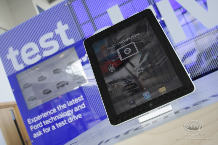 We provide iPads for our customers to compare information to help in their car buying journey.