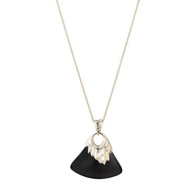 Alexis Bittar Black Pleated Pendant Necklace - Holly & Brooks