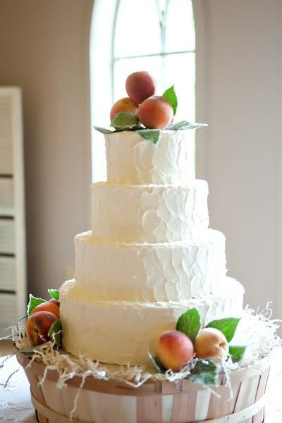 Fruit Wedding Cakes , Wedding Cakes Photos by J. Messer Photography