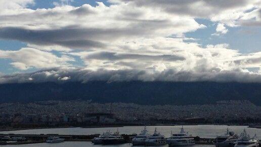 Clouds sea mountain