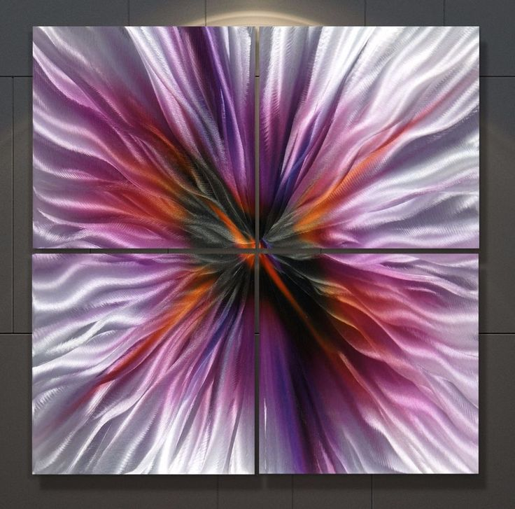 Metal 103x103 cm Abstract Painting Original Modern Wall Art Large Contemporary