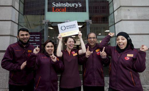 Sainsburys celebrating 2nd IIP Gold accreditation
