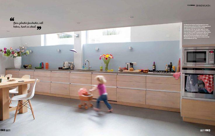 Gekleurde achterwand keuken is mooi. vt wonen - Google zoeken