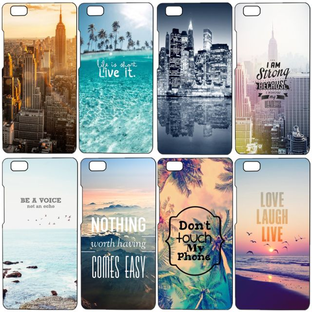 For Huawei p8 Lite Case Beautiful City Landscape Quote Painted  Phone Protective Cover Capa Funda For Ascend P8 Lite 5.0 inch