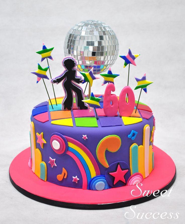 Sensational Disco Birthday Cakes Torta Para Fiesta Fiestas Ochenteras Funny Birthday Cards Online Hendilapandamsfinfo