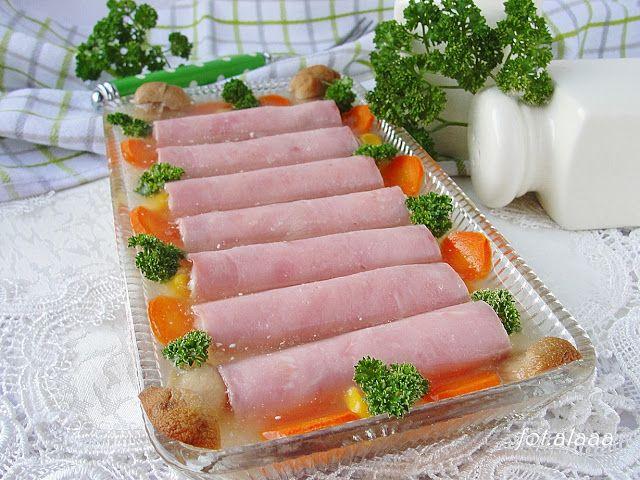 Ala piecze i gotuje: Roladki z szynki w galarecie
