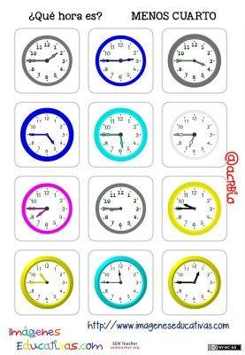 fichas de relojes analógicos. (9)