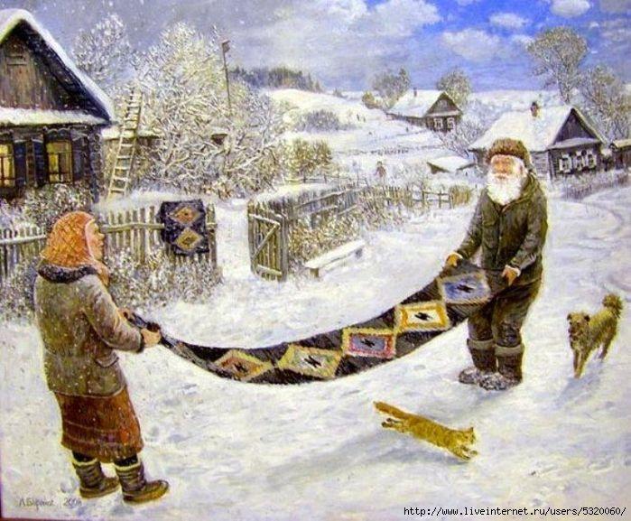 Художник Леонид Баранов - Жили-были дед да баба...