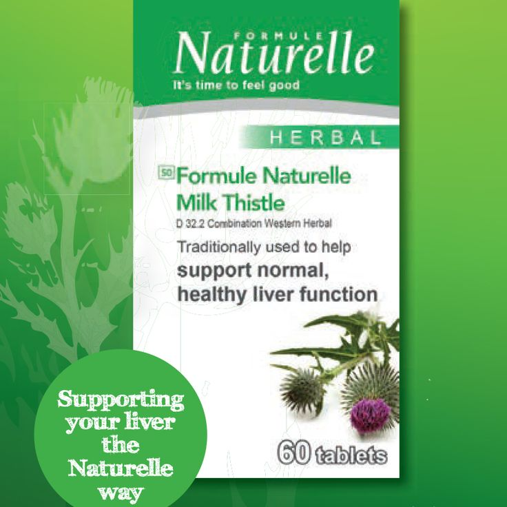 Formule Naturelle Milk Thistle Support your liver the Naturelle way!  Naturelle helps: - Helps to support normal, healthy liver function - Assists with relief of symptoms associated with indulgence of food and drink e.g. indigestion and upset stomach  Consists of 60 tablets. Order online at www.takealot.com