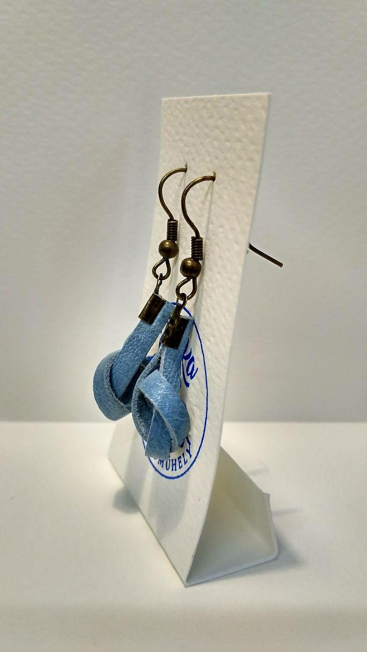 bőr fülbevaló 3 - Fülbevalók - Ékszerek - Rozka Alkotóműhely