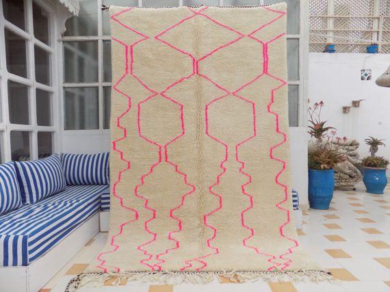 Nieuw Handknotted Beni Ourain tapijt