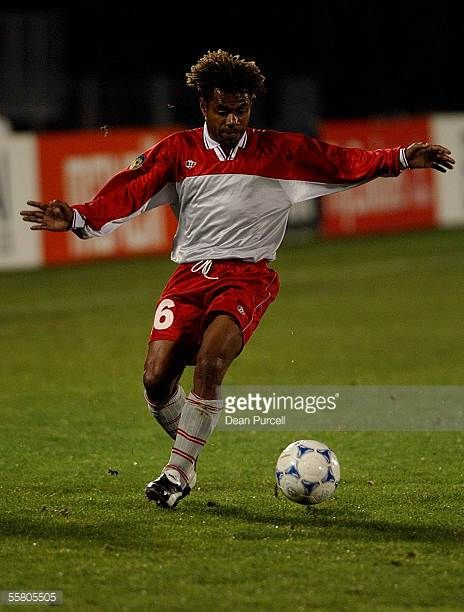 New Caledonia player Jacques Dahote in action during the Oceania Football Confederation Cup between Australia and New Caledonia played at Ericsson...