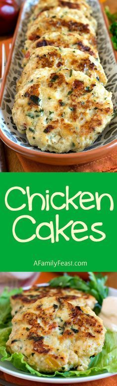 Chicken Cakes - Moist and flavorful, these chicken cakes can be made ahead, then…