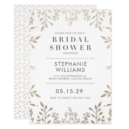 Chic Elegant Rose Gold Bridal Shower Invitation - floral style flower flowers stylish diy personalize