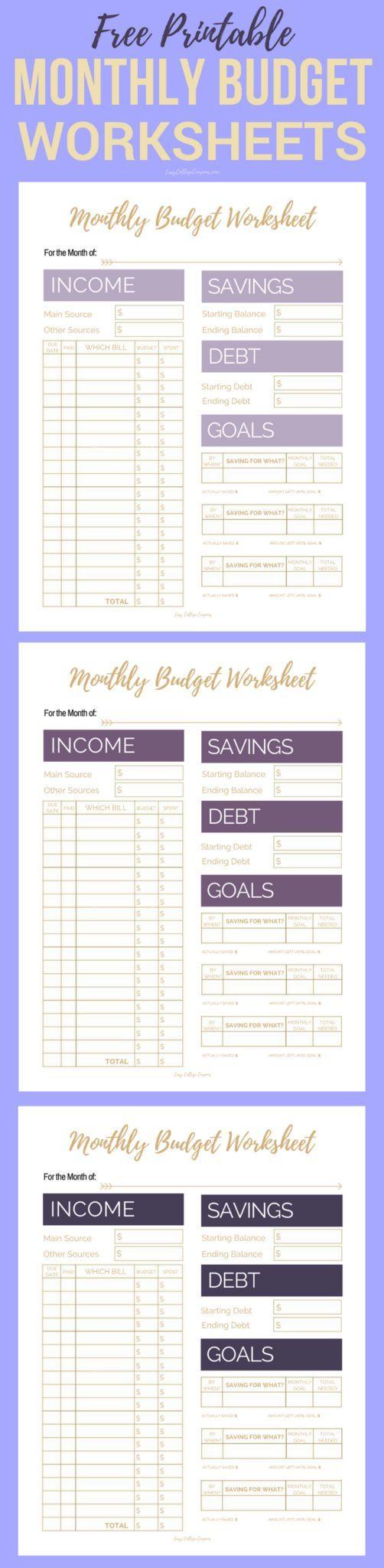 Worksheets Printable Budget Worksheet best 25 printable budget sheets ideas on pinterest free monthly worksheets
