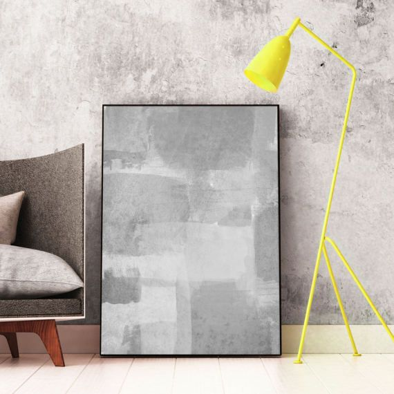 #Grey #Abstract #Art Printable Modern by InspirationAbstracts on Etsy
