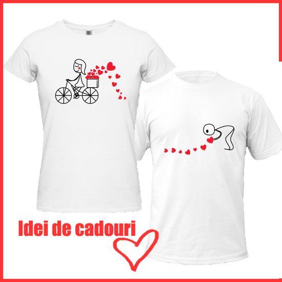 Tricouri Valentine's Day pereche - idei de cadouri romantice de Ziua Indragostitilor