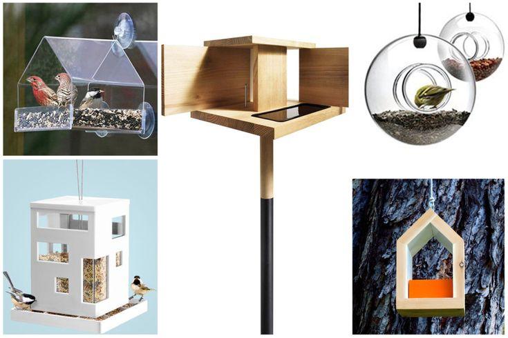 karmniki i domki dla ptaków - inspiracje od Green Design Blog