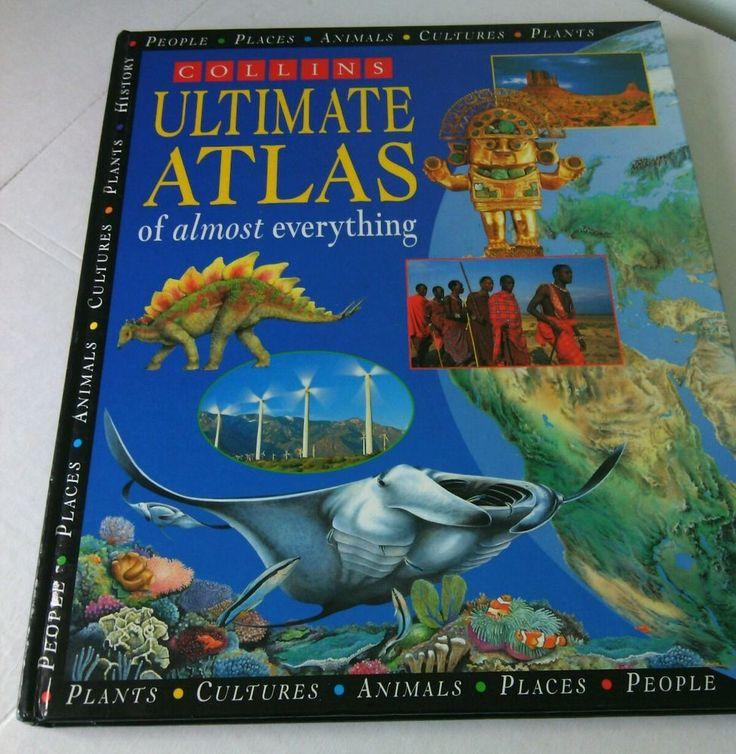 Ultimate Kids Atlas Almost Everything Hardcover Book Children's Map Parker Steel | eBay