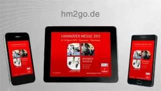 Die HANNOVER MESSE App - Der mobile Messeguide, via YouTube.
