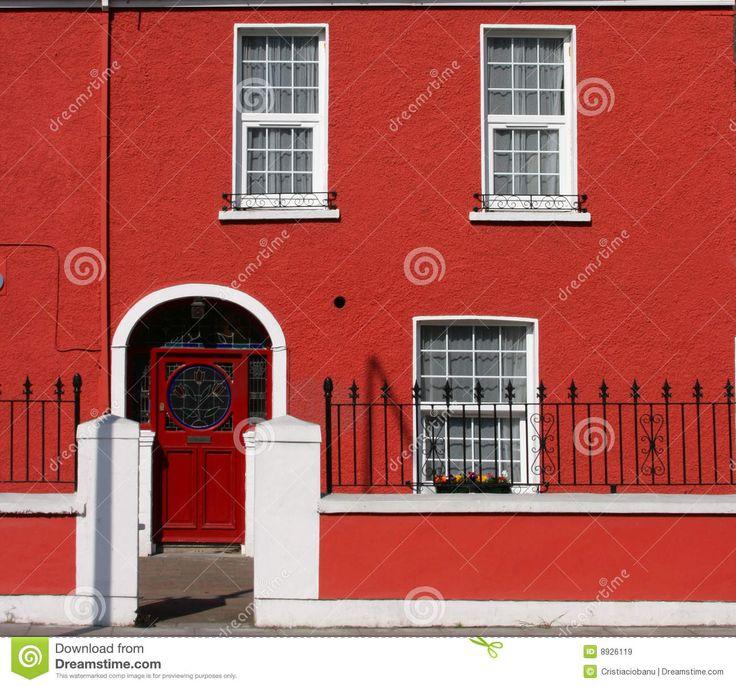 fachadas de casas na cor vermelha - Pesquisa Google