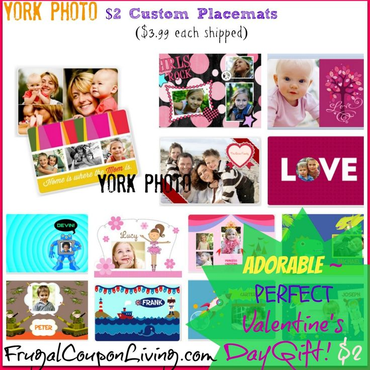 Custom Photo Placemats  ONLY $2 from York Photo – PERFECT Valentine's Gift! #photo #hotdeals