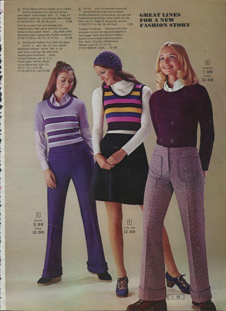 SEARS WOMEN'S FASHION, 1972...