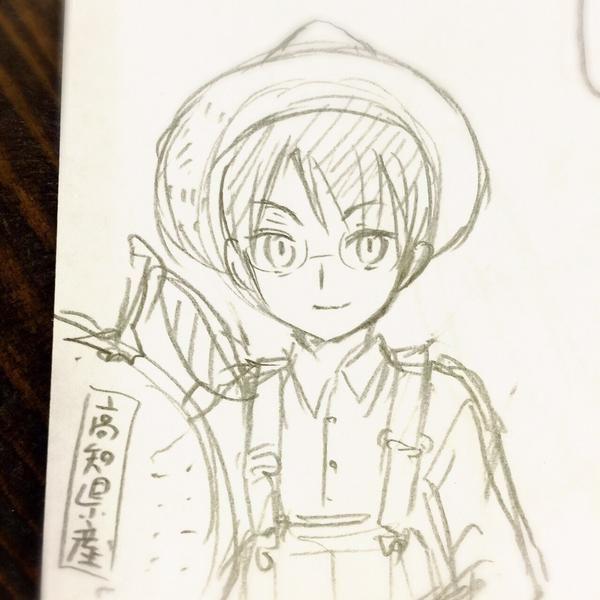 Dessin de Clamp en référence à cette pub avec Shota Sometani (Watanuki dans le drama xxxHOLiC) http://www.youtube.com/watch?v=CHr0quXGprc…