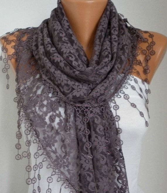 Lace+Scarf+++Shawl+Scarf+Women+Scarves+Cowl+Scarf+by+anils+on+Etsy,+$19.90