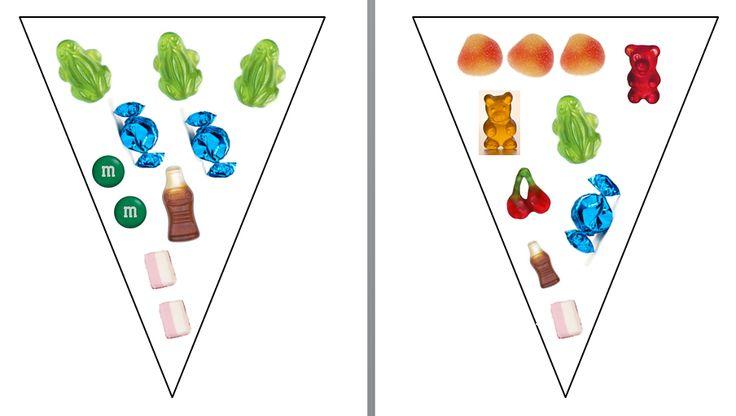 Spel snoepzakjes: De kleuters moeten met een dobbelsteen gooien waar snoepjes opstaan en dan met een gewone dobbelsteen. Ze mogen dan het juiste aantal snoepjes nemen. De bedoeling is om als eerste hun snoepzakje vol te krijgen.
