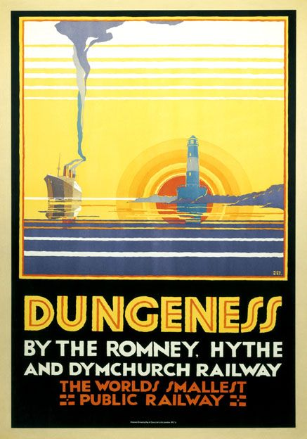 Dungeness Kent Vintage Romney Hythe and Dymchurch Railway Travel Poster by N Cramer Roberts