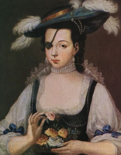Ana de Mendoza de la Cerda; Princess of Éboli, Countess of Mélito and Duchess of Pastrana. She was considered one of Spain's greatest beauties despite having lost an eye in a mock duel with a page when she was young.