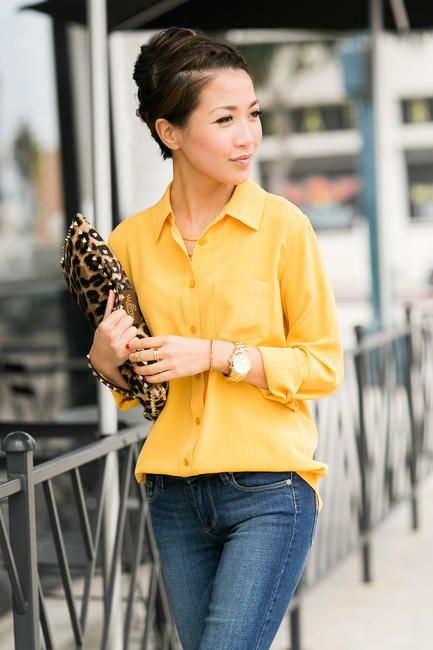 yellow / leopard / denim