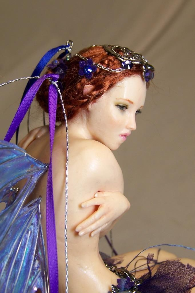 OOAK Fantasy FLOWER FAIRY faerie pixie sculpture art doll ...