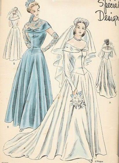 38 best anni 40 images on pinterest vintage dresses for 1940s wedding dress patterns