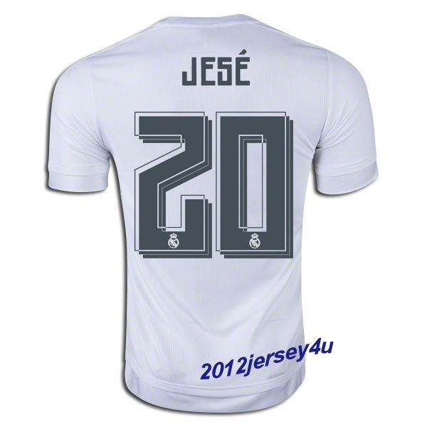 a6e736ffa60 10 womens james rodriguez real madrid cf soccer jersey grey away authentic  15; jese 20 real madrid 15 16 home jersey