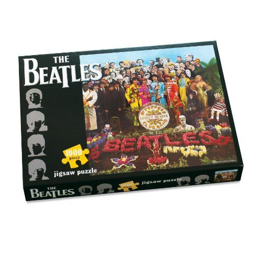 "The Beatles Segeant Pepper Puzzle (1000 Pieces)    ""It was twenty years ago today, Sergeant Pepper taught the band to play, He's been going in and out of style, But he's guaranteed to raise a smile...""     Words that introduced what was to become one of the World's favourite albums. This classic puzzle is an authentic representation of the cover.    More Info UK - http://astore.amazon.co.uk/thebeatles50-21/detail/B004SU8VA4 — with the beatles onliner."