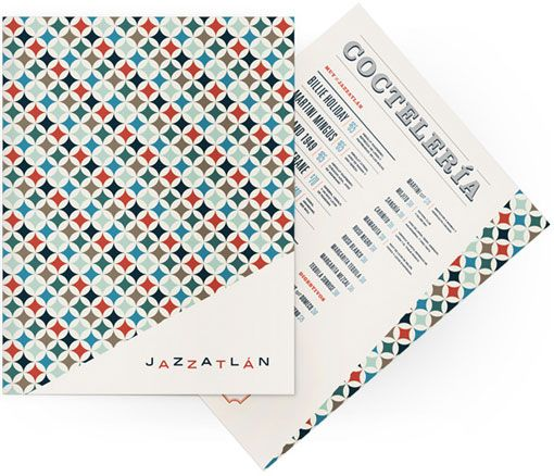 Check out these lively materials created by José Guízar for Jazzatlán, ajazz club in the heart of Cholula, Mexico.