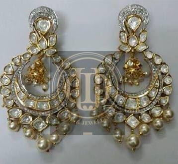 Diamond Polki Earrings from Divine Gems & Jewellery Pvt. Ltd. W: www.divinejewellery.net FB: www.facebook.com/divinegemsandjewellery