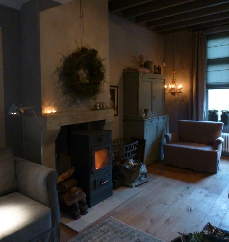 Lovely fireplace ~GJ* ~ ♡ ~Rustic Living ~GJ * www.rusticlivingbygj.blogspot.nl