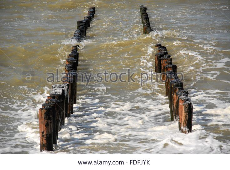 Wave Breaker At The Dutch Coast During High Tide Stock Photo, Picture And Royalty Free Image. Pic. 94386535