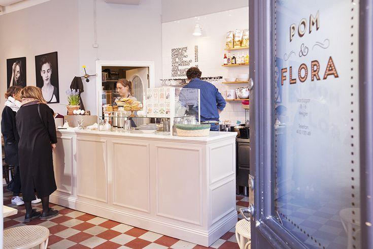 Café Pom & Flora for brunch in  Stockholm
