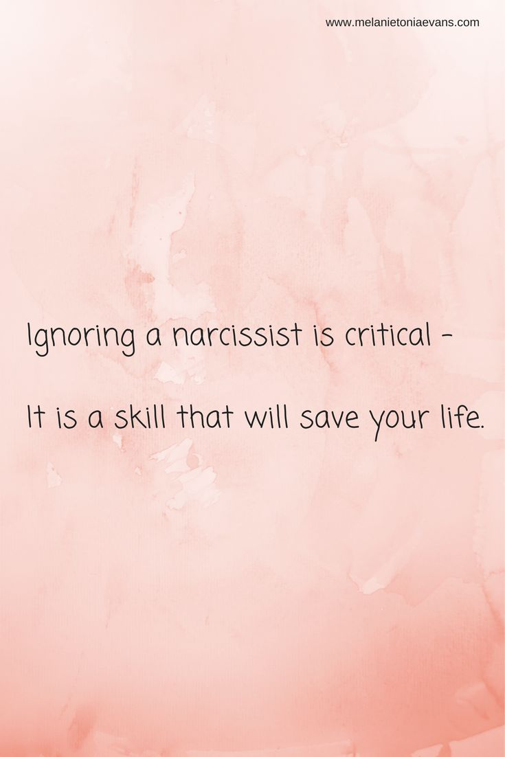 Learn 5 steps to ignoring a narcissist that tries to punish you.  https://www.melanietoniaevans.com/freestarterpackage.htm