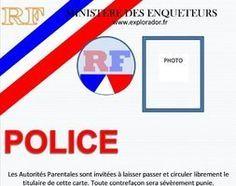 Fabriquer une carte de police factice pour enfant
