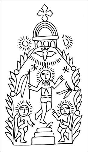 traditional Coptic resurrection tattoo