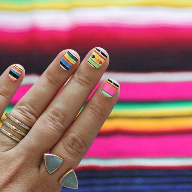 Summer Serape #nailwraps designed by I Spy DIY. Part of our August Monthly Mani Box.