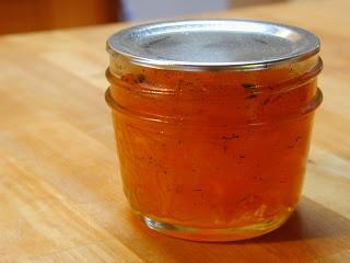 confiture de potiron à la cardamome vanillée et citronnée.